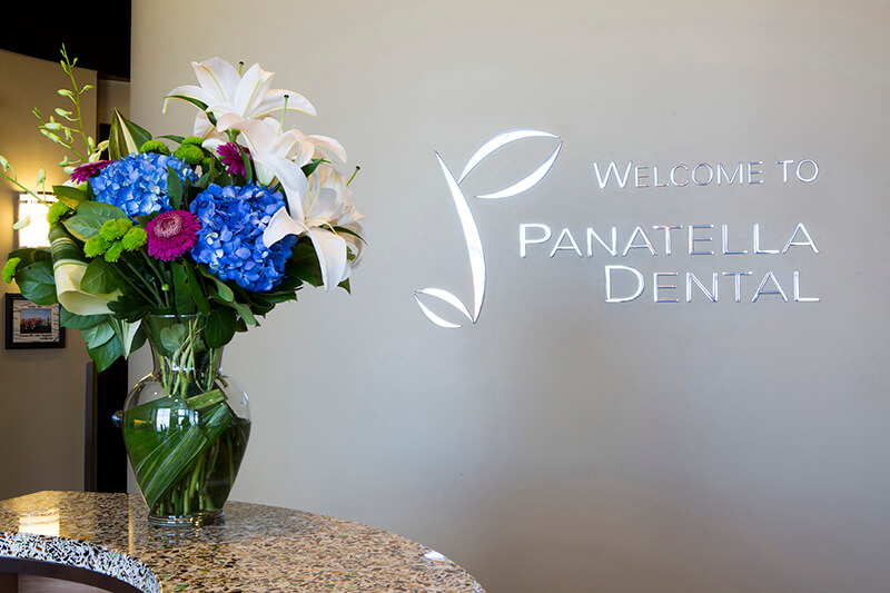 Flower on Desk with Panatella Signage