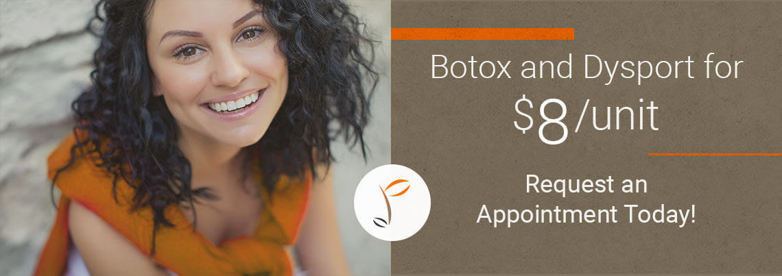 Botox and Dysport for $8/unit