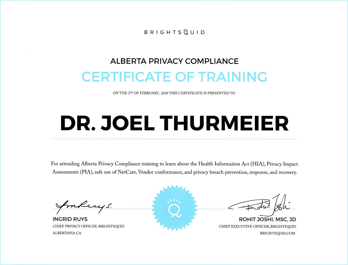 Panatella Dental Privacy Certification