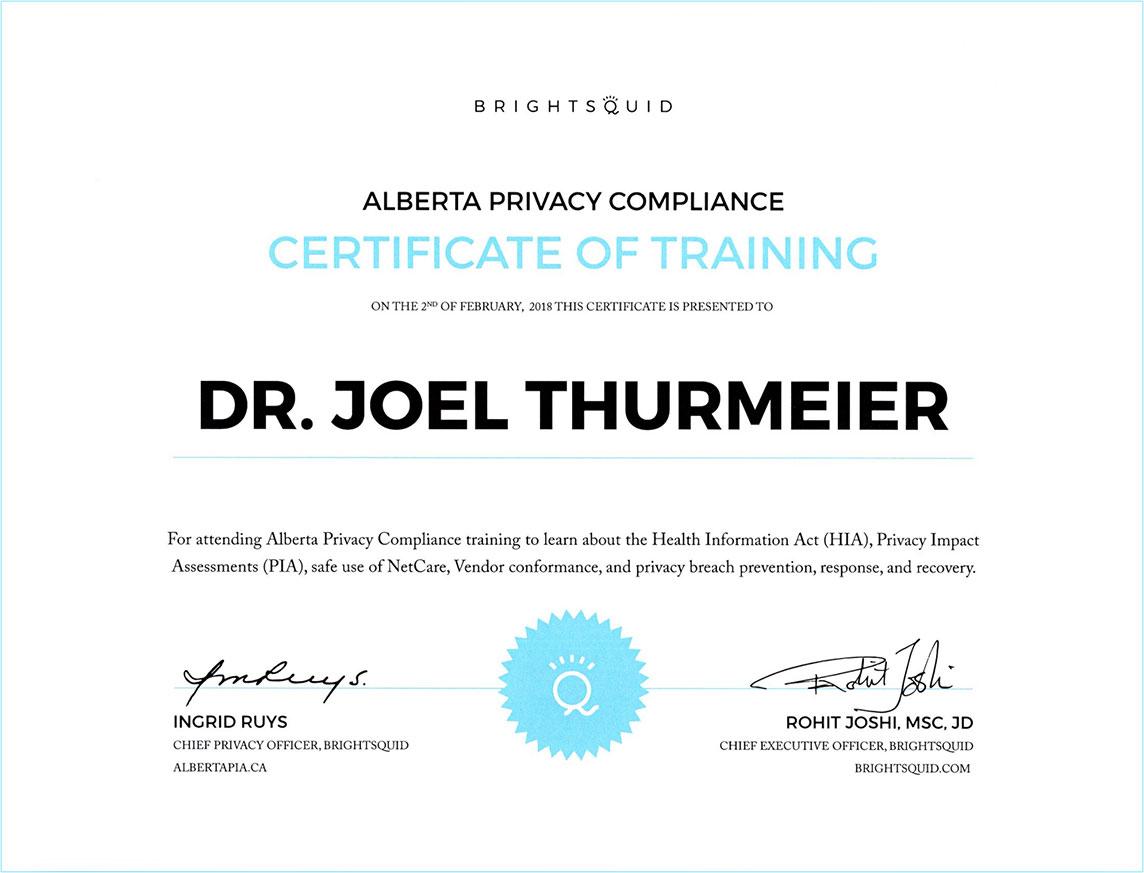 Panatella Dental Privacy Certification