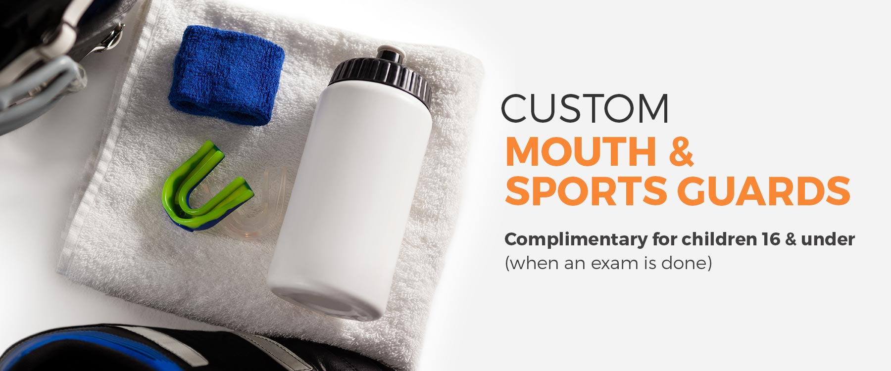 Custom mouth and sports guards banner